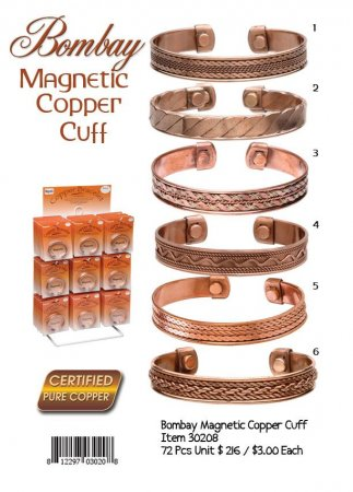 Bombay Magnetic Copper Cuffs Wholesale