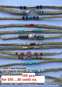 Necklace Hemp Friend Bracelets NOW ON CLEARANCE