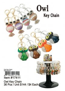Owl Key Chains Wholesale