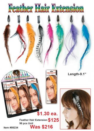 Feather Hair Extension Wholesale - Closeout