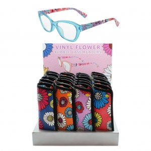 Floral Transfer Print Reading Glasses With Display