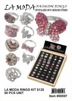 La Moda Fashion Rings - 50 Pcs Unit