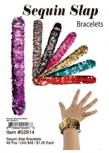 Sequin Slap Bracelets Wholesale