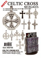 Celtic Cross Pewter Necklaces Wholesale