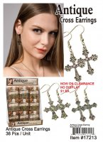 Antique Cross Earrings NOW ON CLEARANCE
