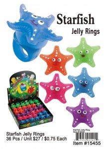 Wholesale Starfish Jelly Rings