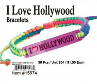 Wholesale I Love Hollywood Bracelets
