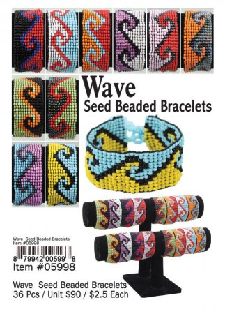 Wave Seed Beaded Bracelets Wholesale