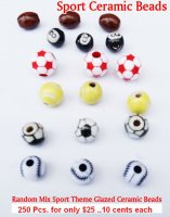 Sport Ceramic Beads NOW ON CLEARANCE