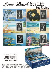 Love Pearl Sea Life Key Chains Wholesale