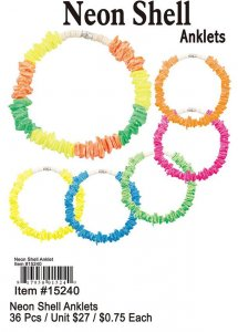 Wholesale Neon Shell Anklets