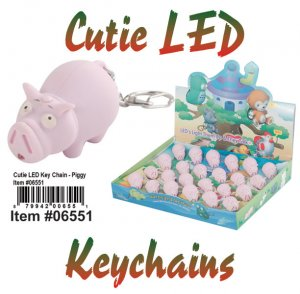 Wholesale Cuties Led Key chains PIG