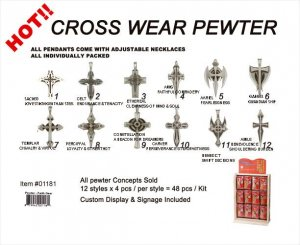 Pewter Cross Necklaces Wholesale