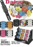 Daisy Leather Bracelets ON CLEARANCE