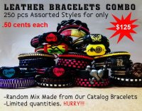 Leather Bracelets Combo Wholesale - Closeout