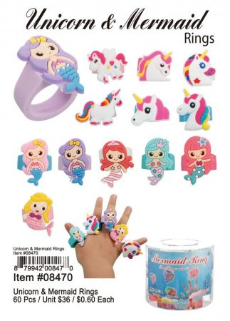 Unicorn Mermaid Rings Wholesale