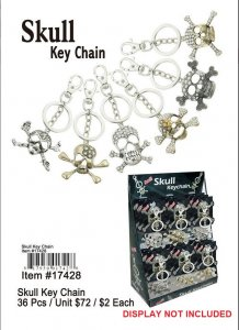 Skull Key Chains NOW ON CLEARANCE