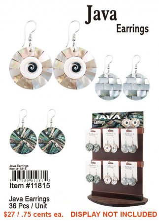 Java Earrings NOW ON CLEARANCE