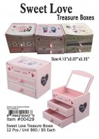 Sweet Love Treasure Boxes Wholesale