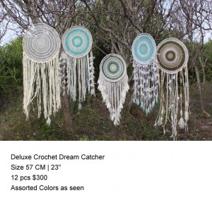 Deluxe Crochet 23 INCHES DIAMETER Dream Catcher