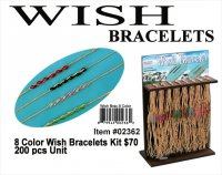 Wholesale 8-Color Wish Bracelets Kit