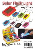 Wholesale Solar Flash Light Key Chains