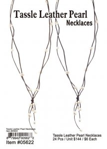 Tassle Leather Pearl Necklaces Wholesale