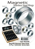 Wholesale Magnetic Stainless steel Rings