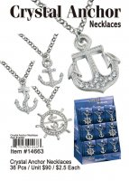 Crystal Anchor Necklaces Wholesale