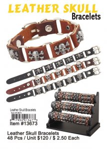 Leather Skull Bracelets Wholesale