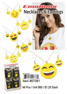 Emotions Necklaces Earrings Wholesale