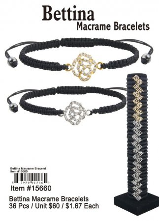 Wholesale Bettian Macrame Bracelets