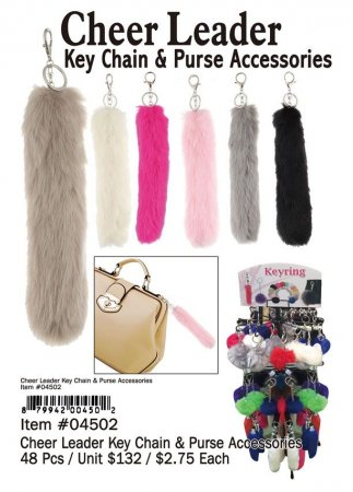 Cheer Leader Keychain Purse Accessesories Wholesale