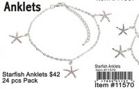 Starfish Anklets Wholesale