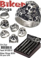 Biker Rings Wholesale