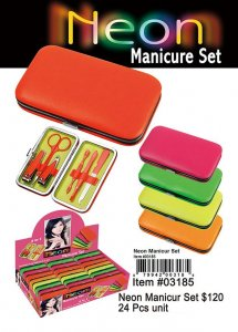 Neon Manicure Set Wholesale