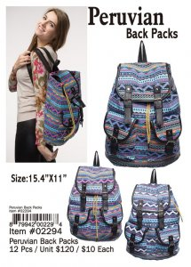 Peruvian Backpacks Wholesale