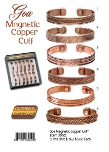 Goa Magnetic Copper Cuffs Wholesale