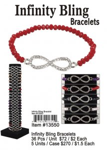 Infinity Bling Bracelets Wholesale