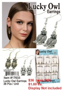 Lucky Owl Earrings NOW ON CLEARANCE