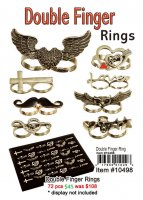 Double Finger Rings NOW ON CLEARANCE