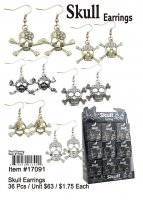 Skull Earrings Wholesale