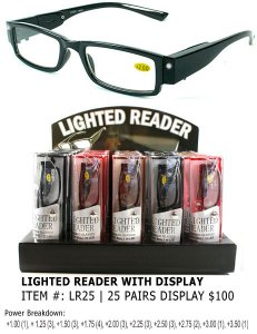 Lighted Readers with Display