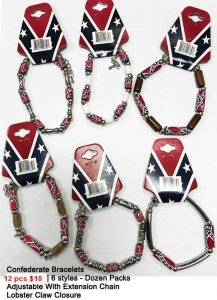 Confederate Bracelets NOW ON CLEARANCE