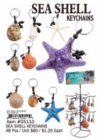 Sea Shell Keychains Wholesale