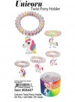 Unicorn Twist Pony Holder Wholesale