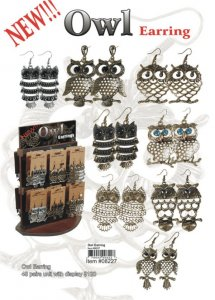 Owl Earrings NOW ON CLEARANCE