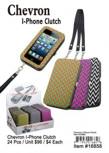 Chevron Iphone Clutches NOW ON CLEARANCE