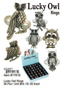Lucky Owl Rings Wholesale