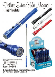 Deluxe Extendable Magnetic Flashlights Wholesale